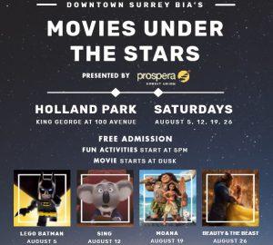 Movies Under the Stars @ Holland Park | Surrey | British Columbia | Canada