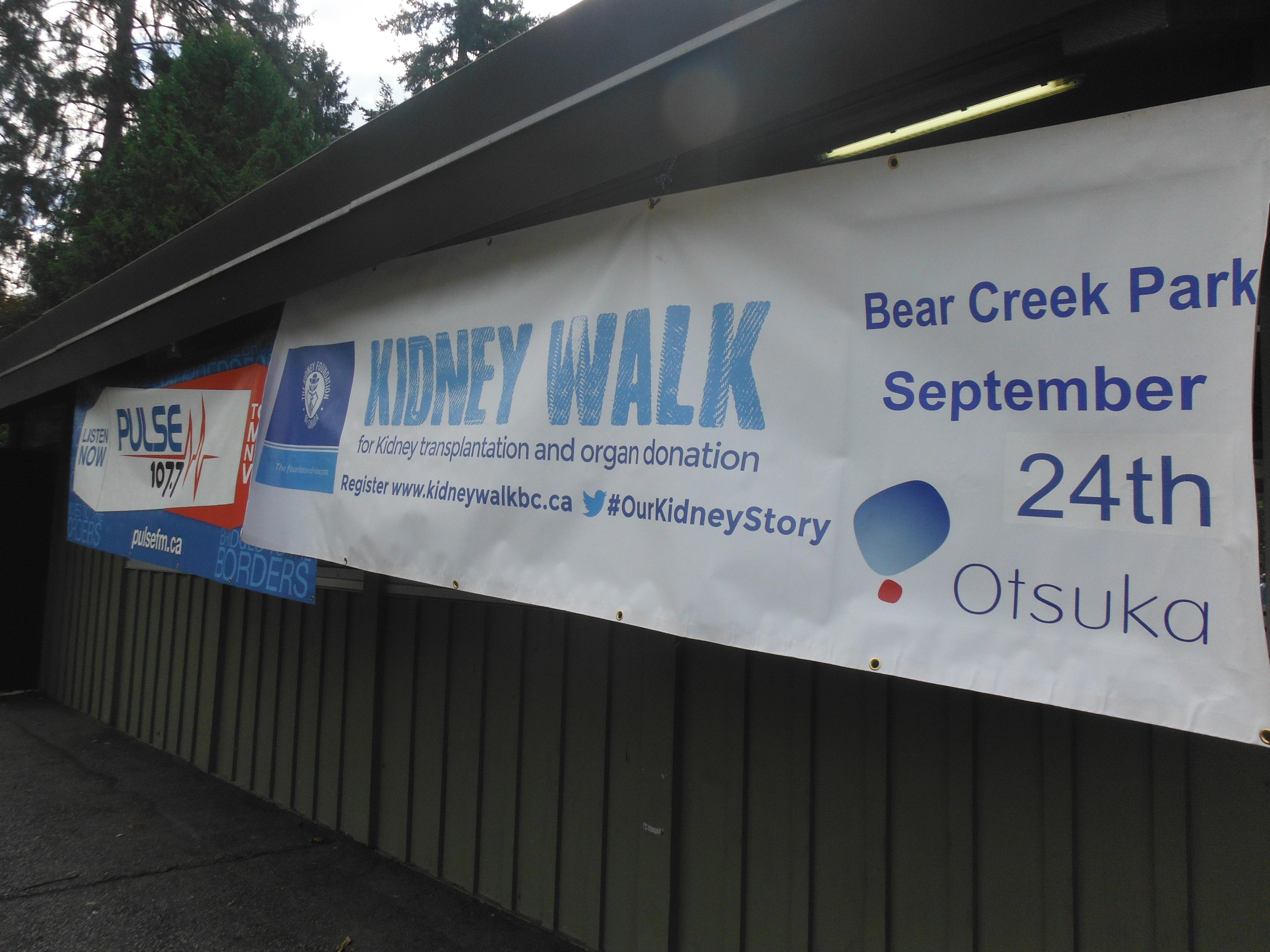 Pulse FM at The Fraser Valley KIDNEY WALK 2017 at Bear Creek Park