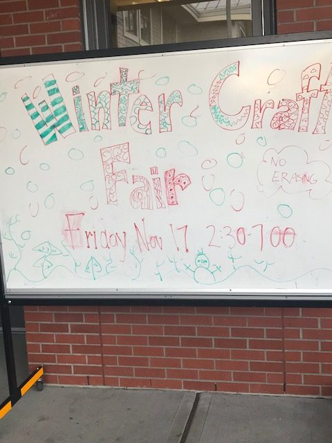 Winter Craft Fair at White Rock Elementary.