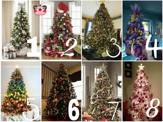 Which Christmas tree matches your decorating style?