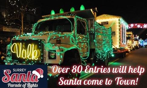 Surrey Santa Parade of Lights Cloverdale