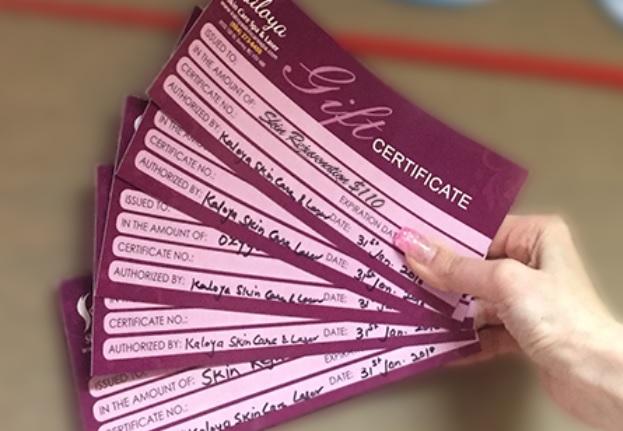 Win Gift Certificates to Kaloya Skin Care Spa & Laser