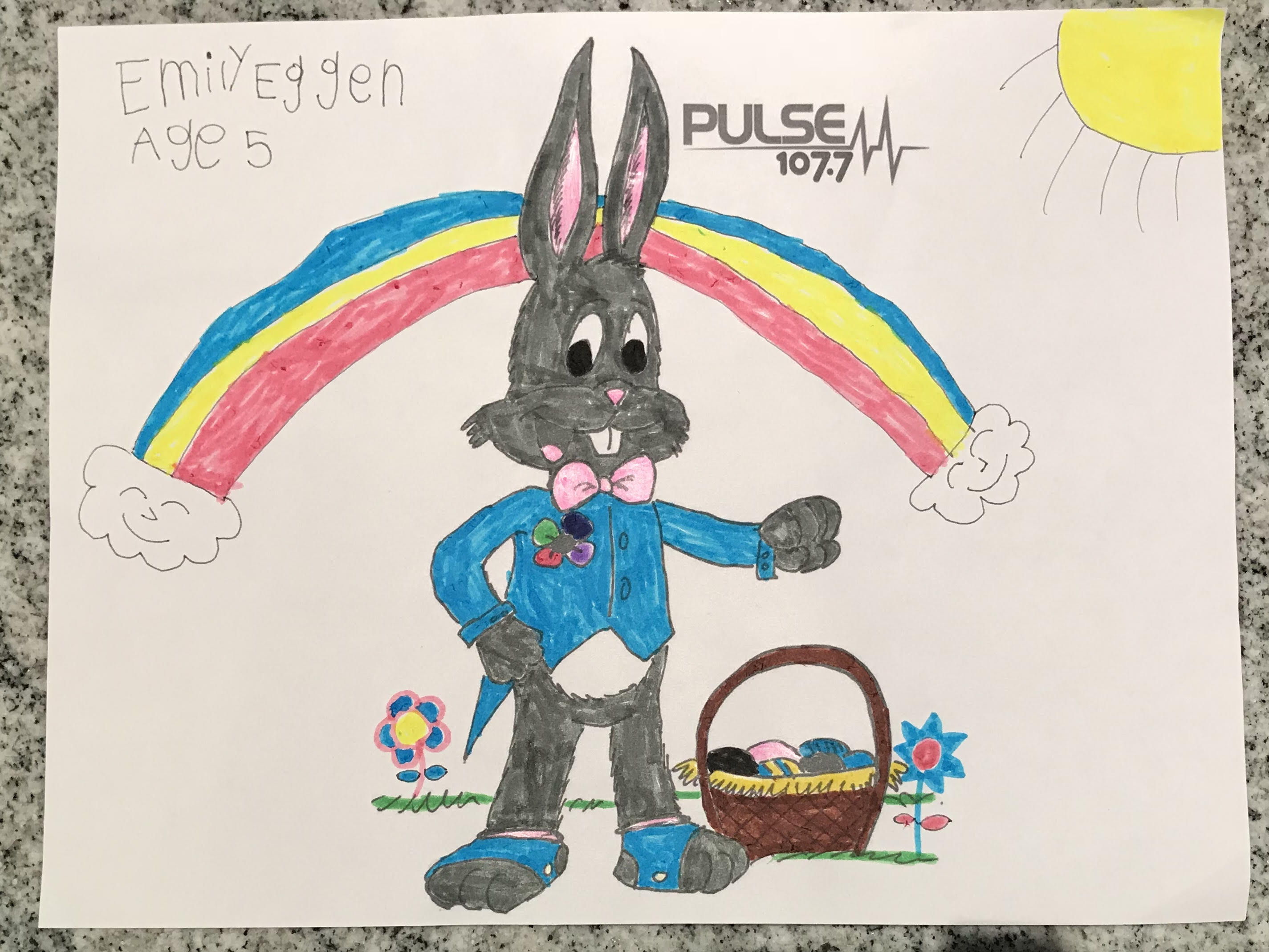 Congratulations to PULSE FM's Easter Coloring Contest Winner