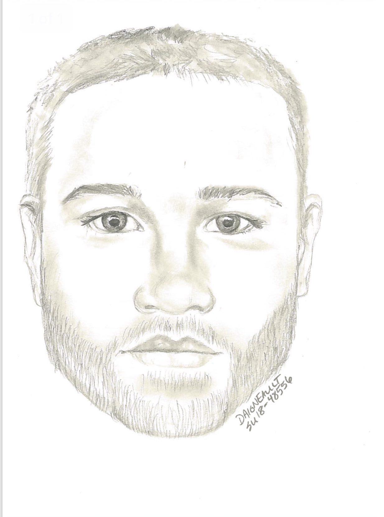Surrey RCMP release a sketch of a suspect in a sexual assault.