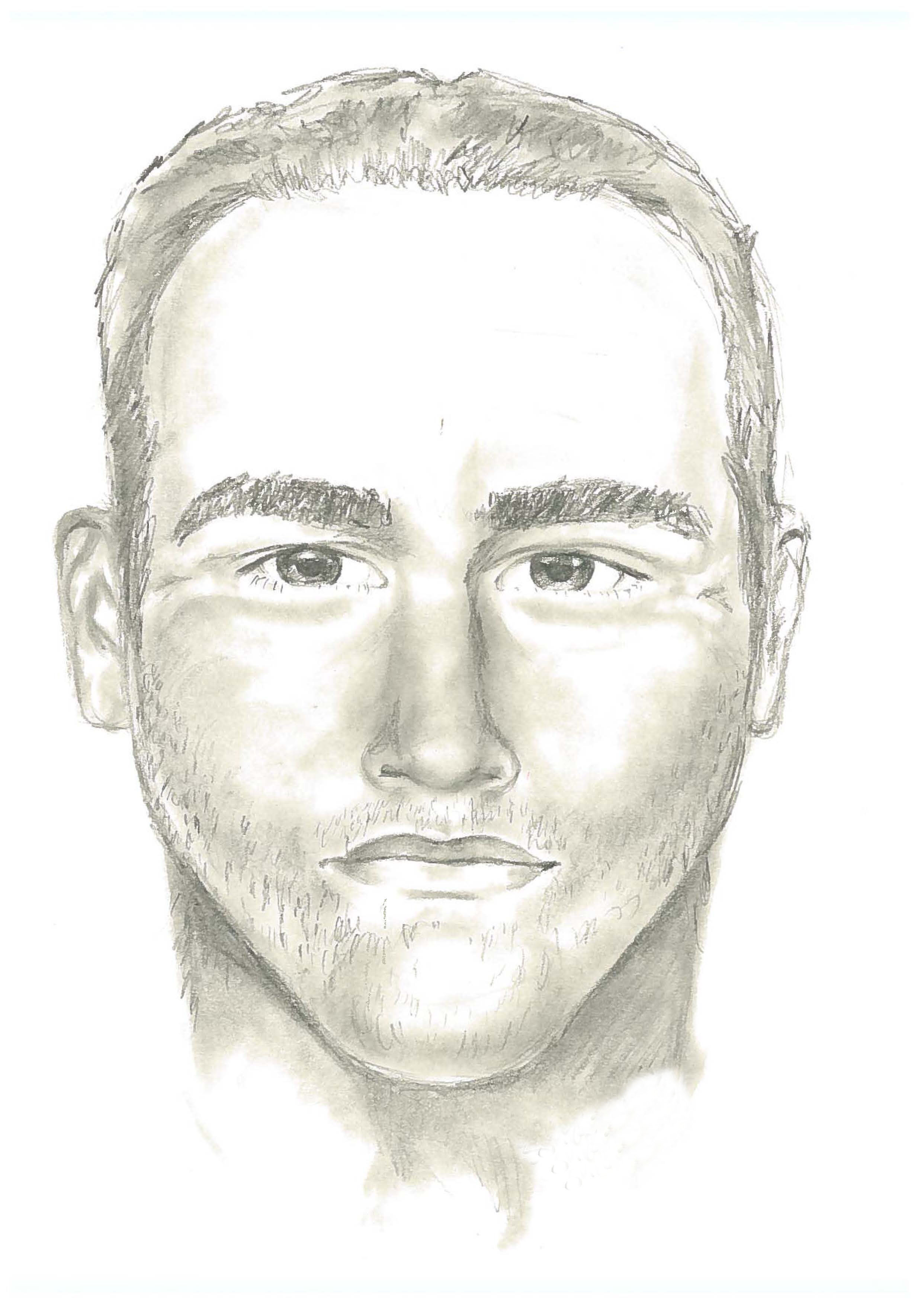 Surrey RCMP composite sketch of a sexual assault suspect from April 24th.