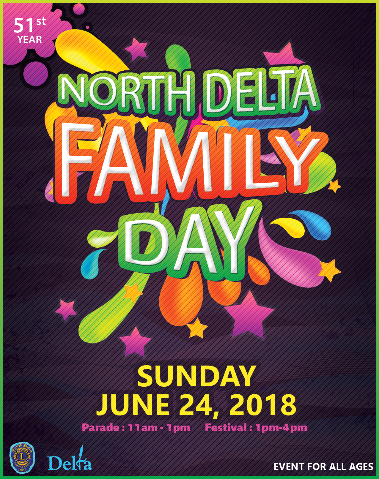 North Delta Family Day Parade Map