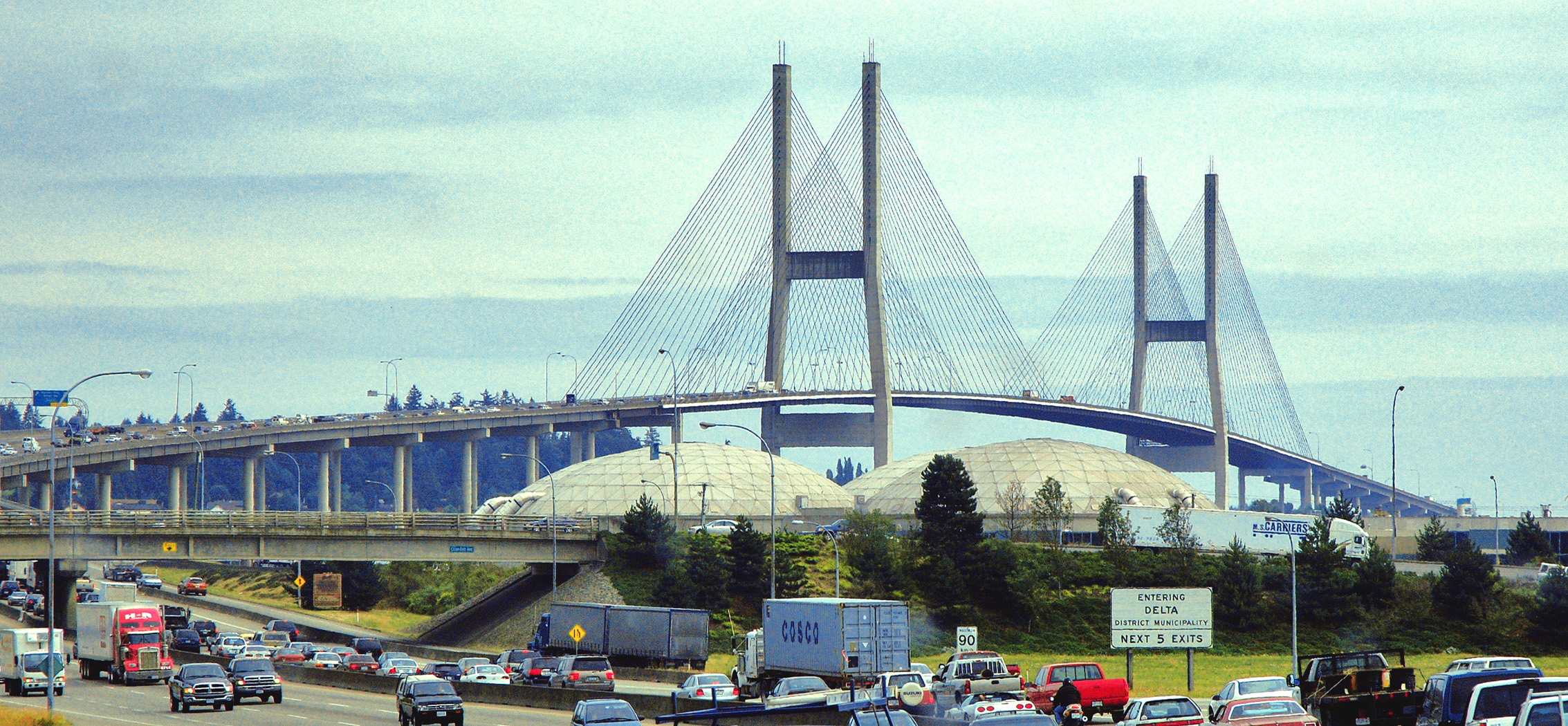 Seventh lane on Alex Fraser Bridge expected to open soon