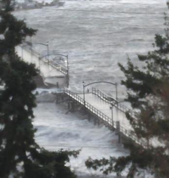 White Rock Pier Breaks in Half : One Man Saved by Emergency Crews