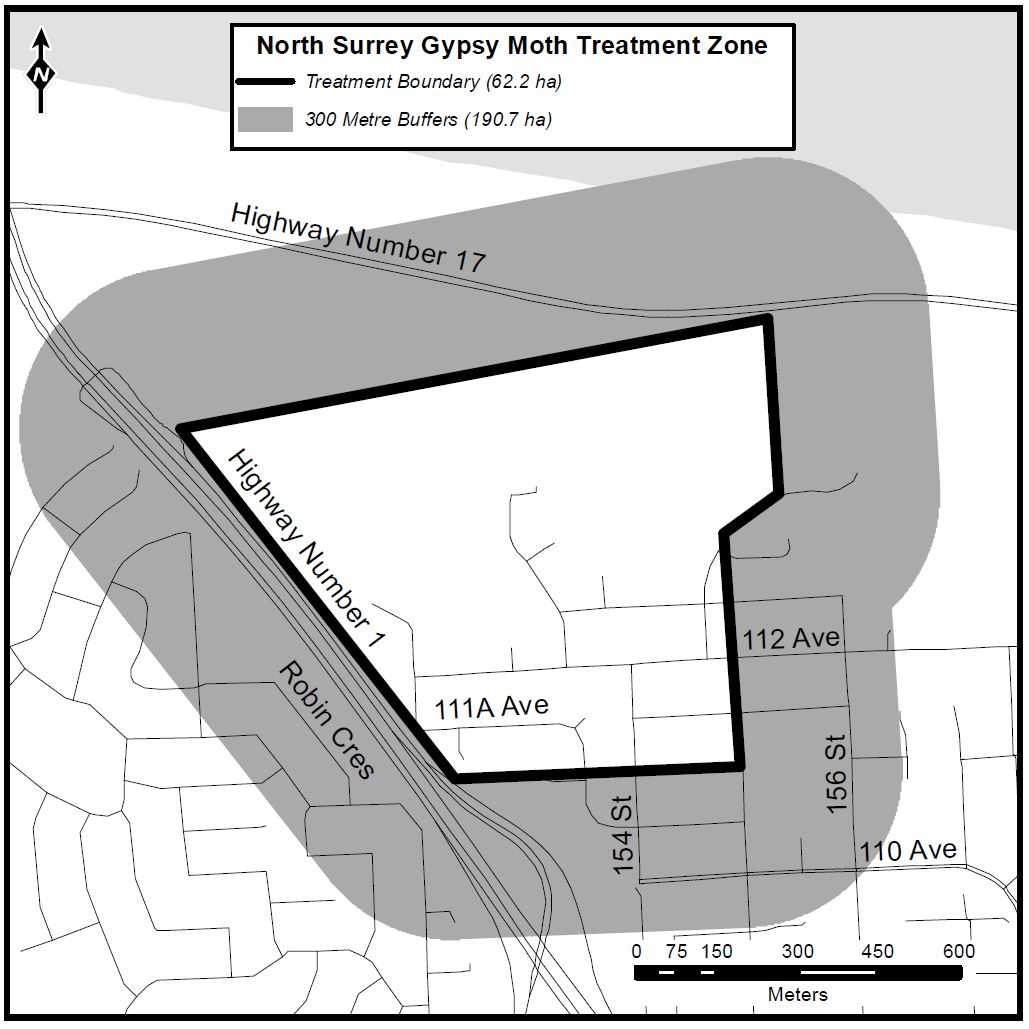 Aerial spraying in Surrey moved ahead a day