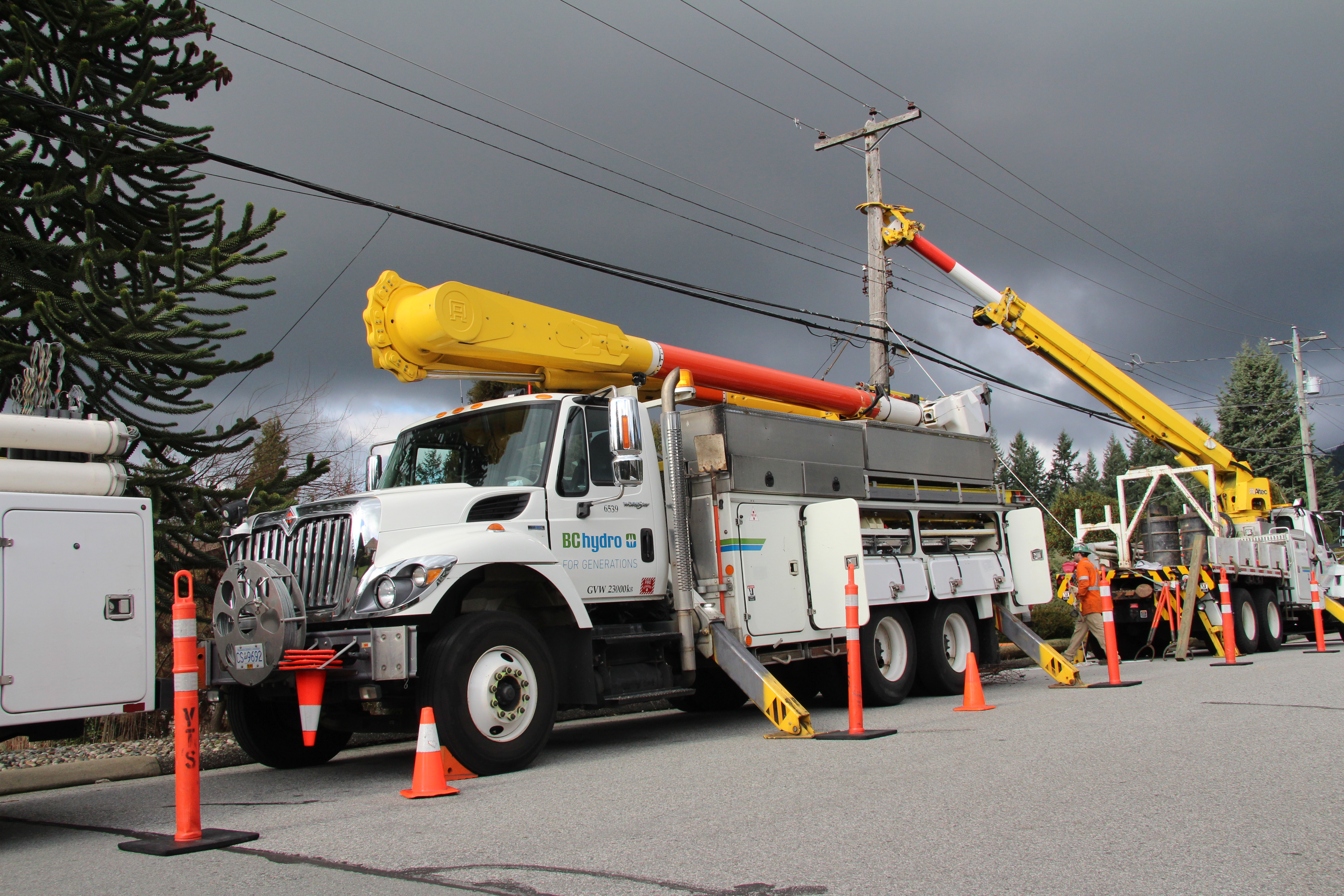 257 Wooden Power Poles are being replaced in Surrey