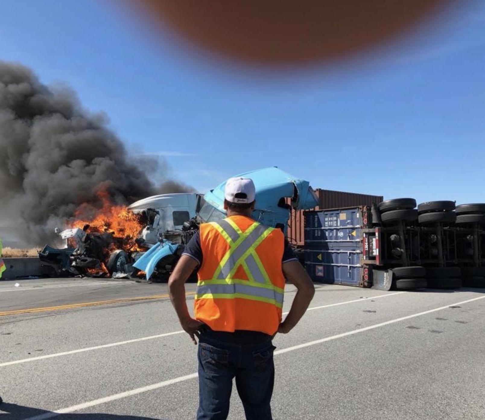 One man dead in fiery crash near Delta Port