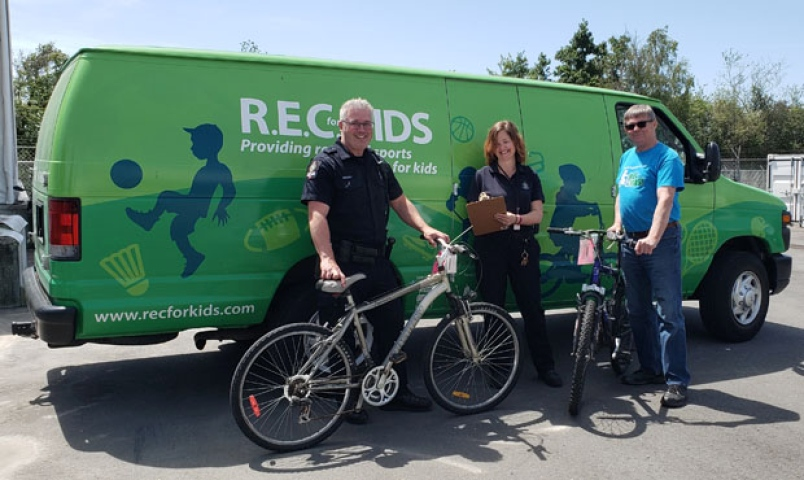 Delta Police Donate Unclaimed Bikes To Charity