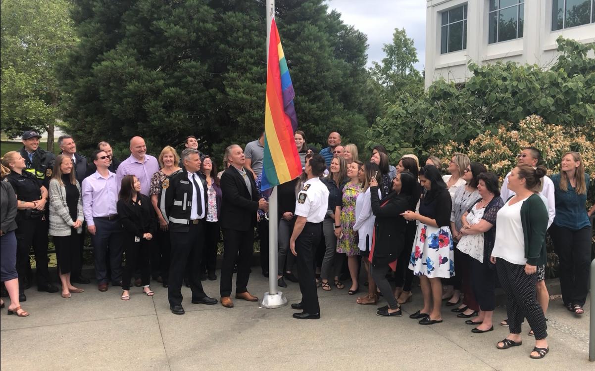 Pride Flag Raised at Delta City Hall