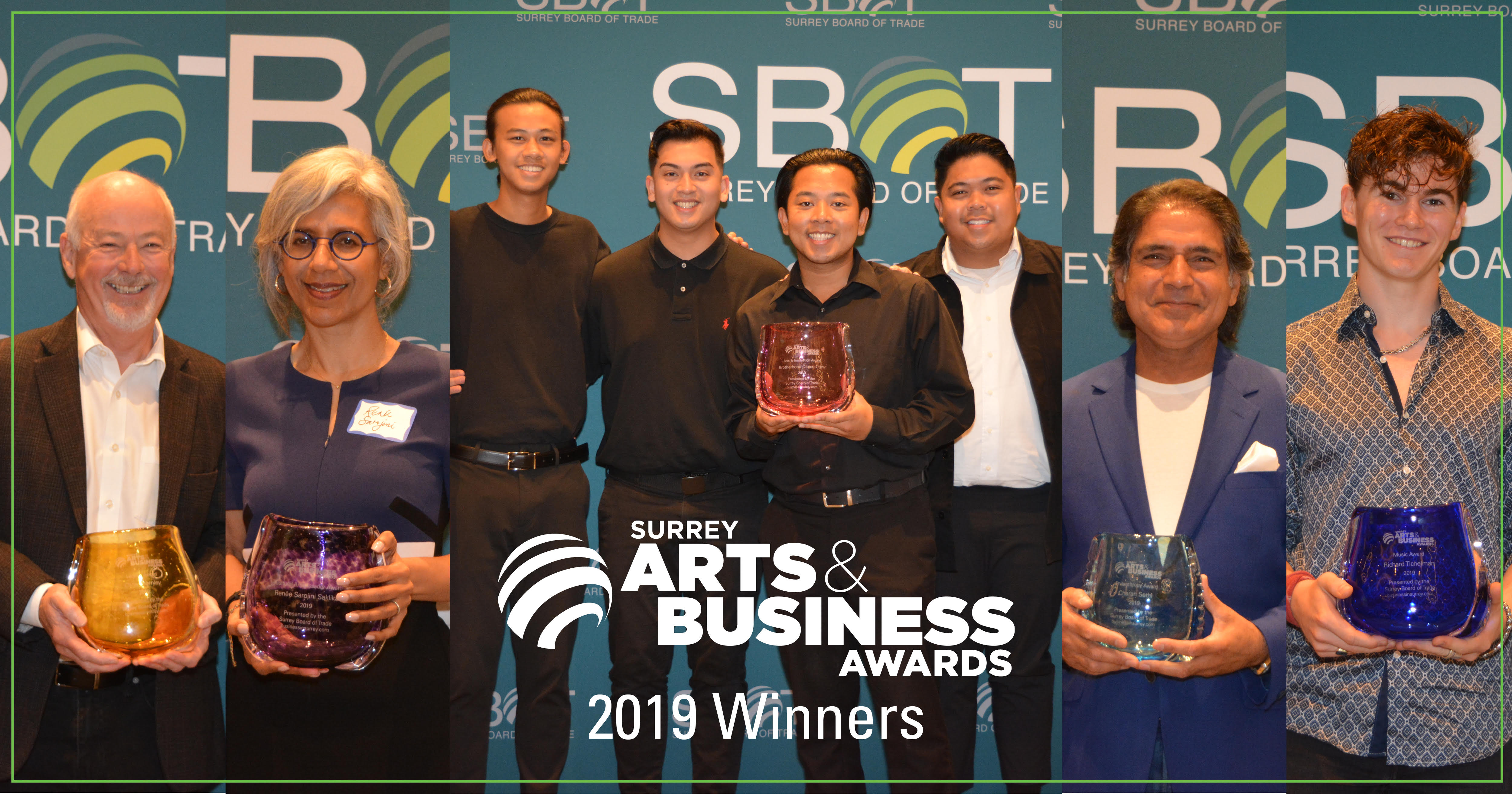 Surrey Board of Trade Announces Winners for the 3rd Surrey Arts & Business Awards
