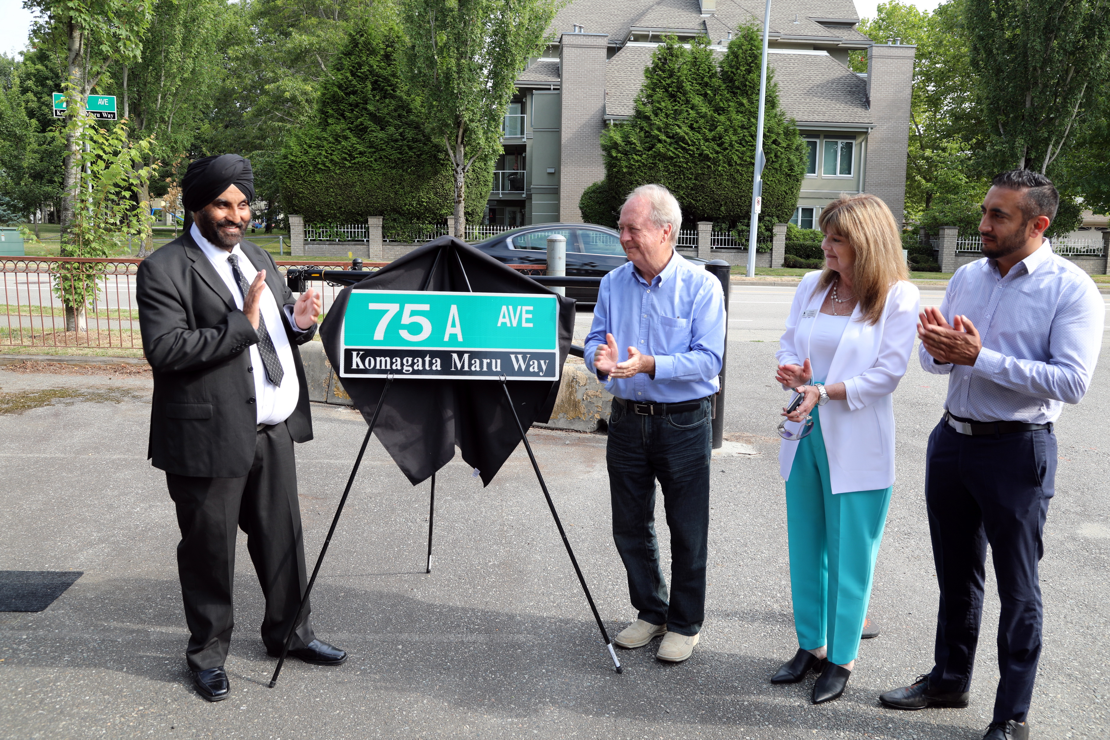 Komagata Maru Way street signs officially unveiled