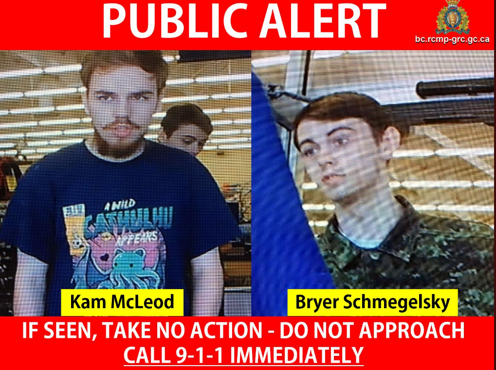 Two men, reported missing, now considered suspects in Northern BC Homicides