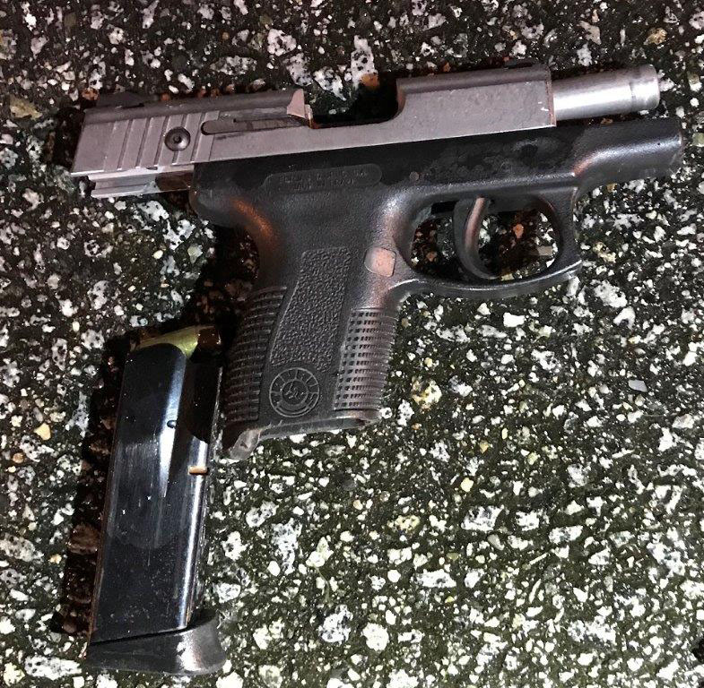 Loaded .40 cal pistol seized by the Surrey Gang Enforcement Team