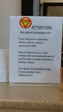 Corona Virus Alerts at Surrey Clinics