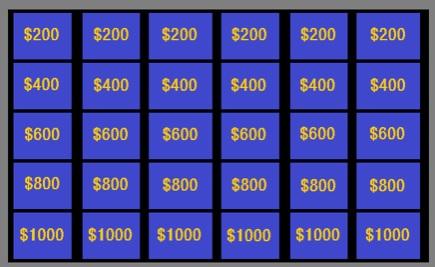 Jeopardy Face Off