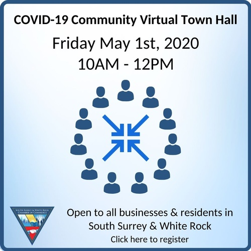 Virtual Town Hall Aims to Answer South Surrey + White Rock Businesses and Residents COVID-19 Questions