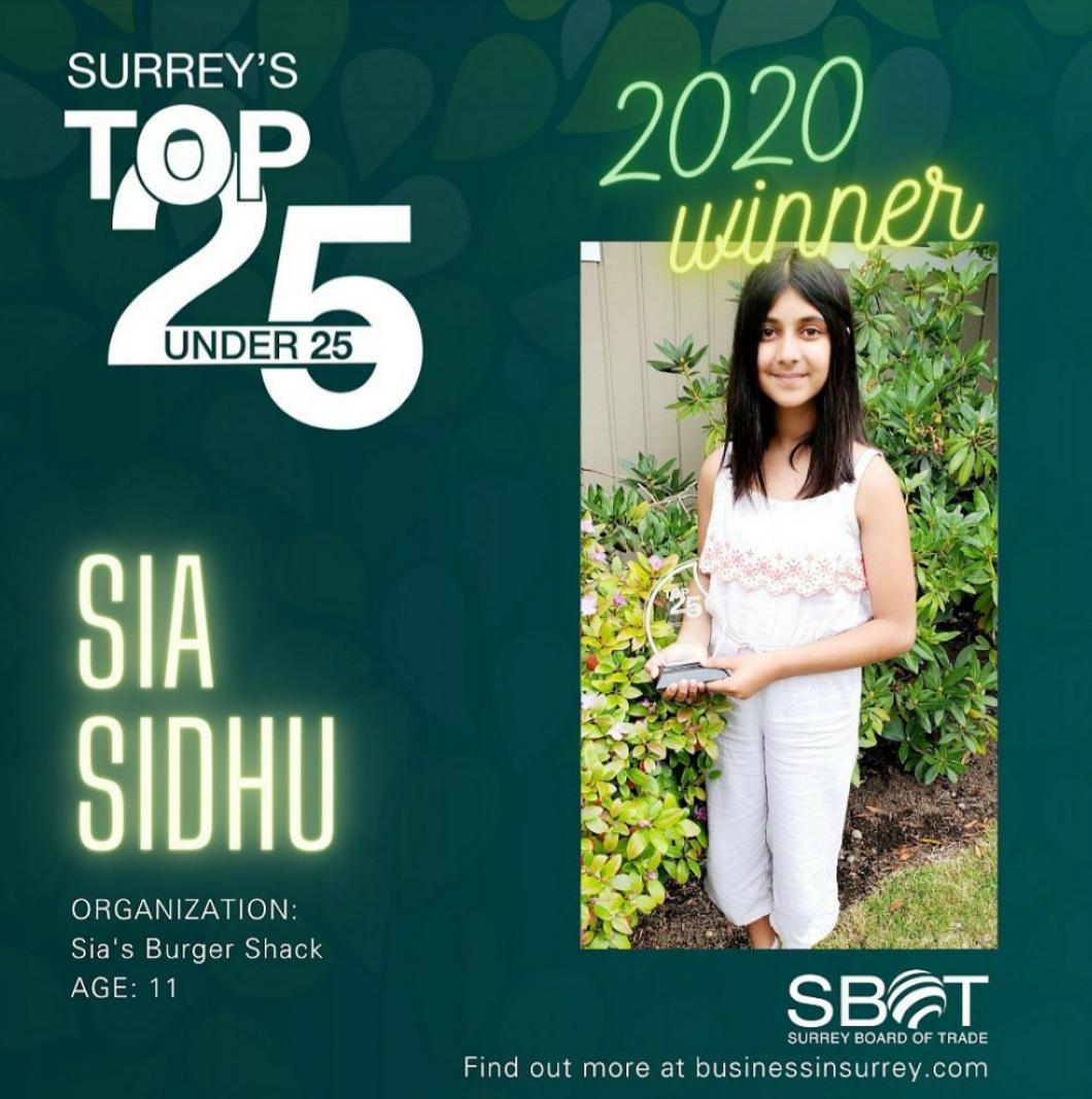 Help 11 Year Old Surrey Resident Sia Sidhu Raise Money For BC Children's Hospital!
