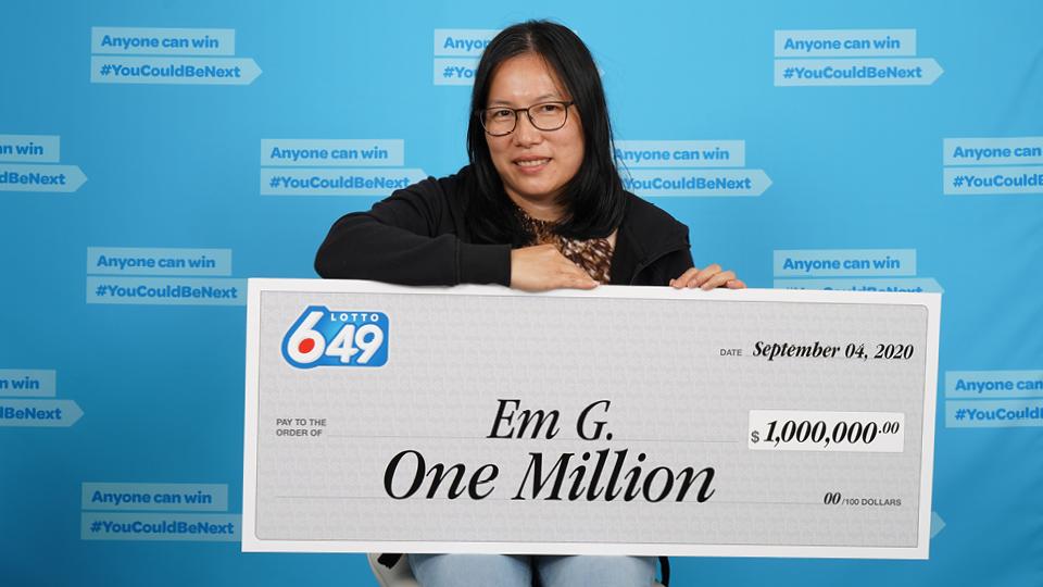 Surrey Woman on Cloud Nine after Winning a Million Dollars