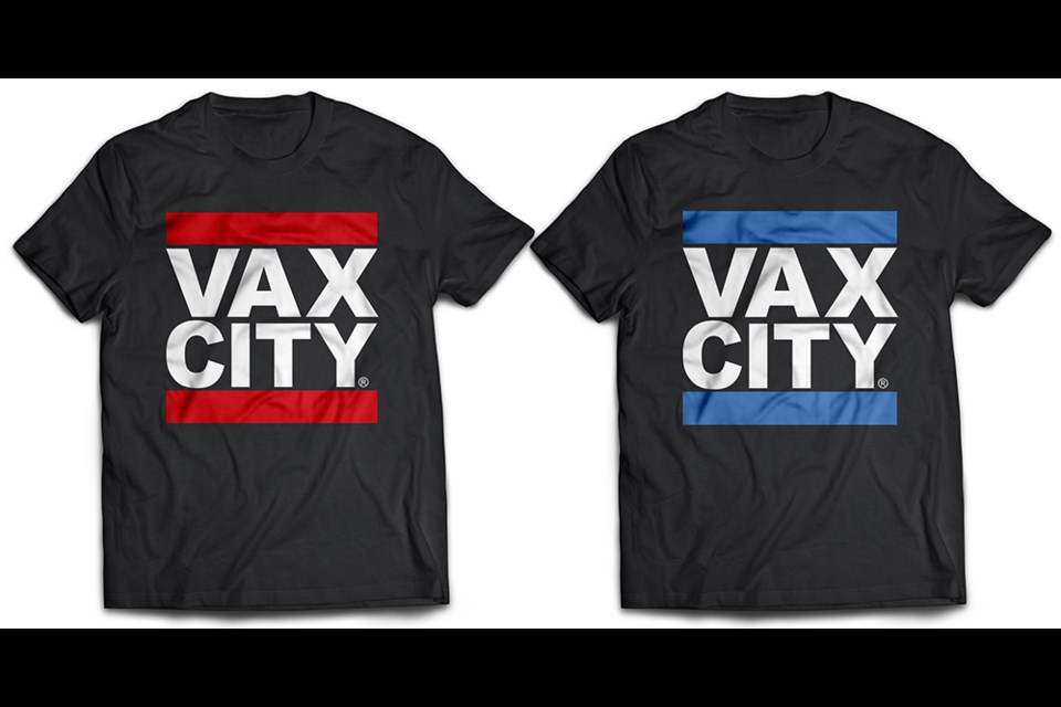 New VAX City T-Shirts Available for Order. Proceeds are Helping Healthcare Workers.